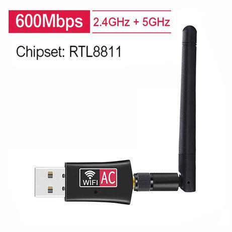 Двухдиапазонный USB WiFi адаптер RTL8811   2.4GHz/5GHz, 600Mbit