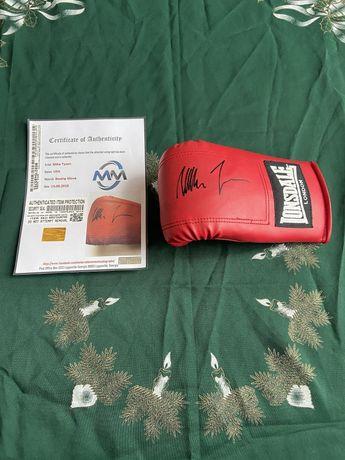 Rękawica bokserska Mike Tyson oryginalny autograf Certyfikat