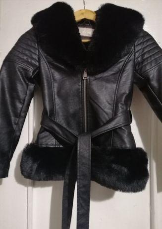 Кожаная детская куртка