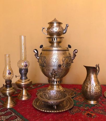Samovar/Chaleira/Chá do Irão feito à mão e gravado à mão