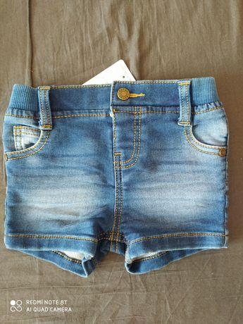 Nowe spodenki  rozm 80 jeans