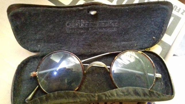 Stare okulary powojenne optiker fiedler breslau