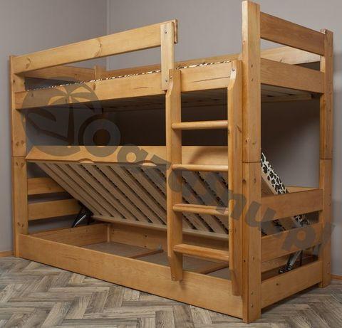 łóżko piętrowe DOMINATOR 90x200 otwierane z pojemnikiem dowolny wymiar
