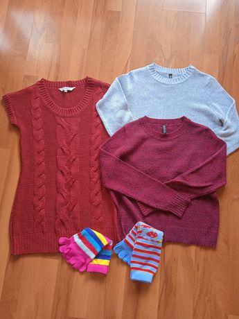 H&M swetry dzianinowe /S 36 + gratis