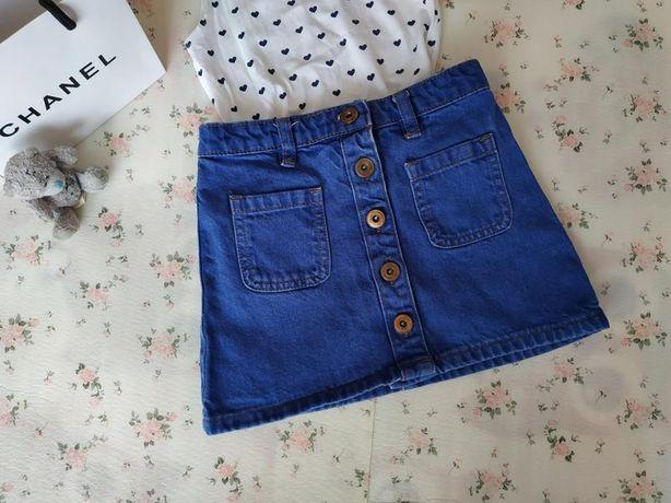 Стильная джинсовая юбка для модницы! На 4-5 лет