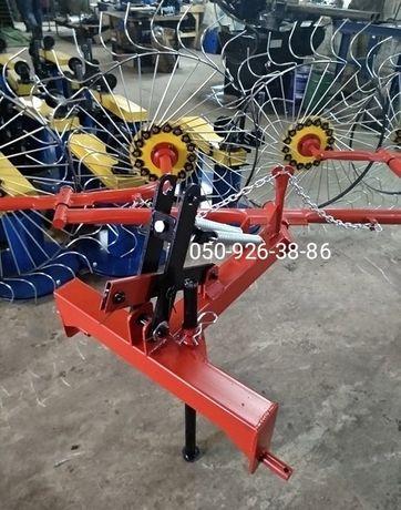 Грабли ворошилки Солнышко на 4 колеса спица ∅6 мм на трактор Грабарка