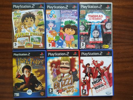 PS2 Play Station Harry Potter Dora Diego Safari Rescue Thomas Buzz HSM