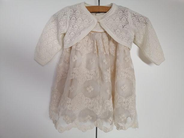 Sukienka ecru chrzest, wesele 68