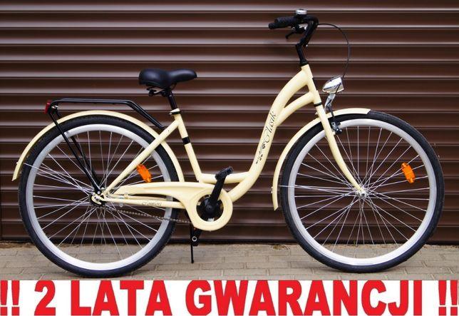 NOWY STYLOWY Rower 28' dla kobiety. Kolor KAWOWY. + LICZNIK GRATIS !!