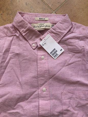 Мужская рубашка с коротким рукавом H&M