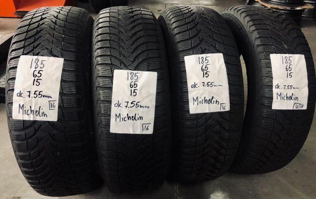 P.nowe opony zimowe 185/65/15 Michelin, 7.55mm, 16/17rok. Montaż / wys