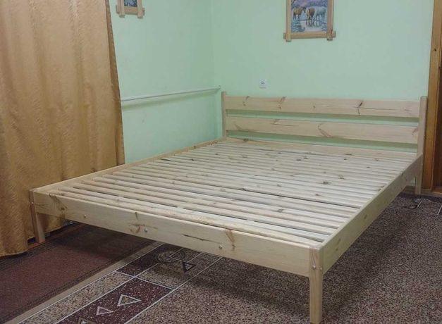 Ліжко дерев'яне, кровать деревянная