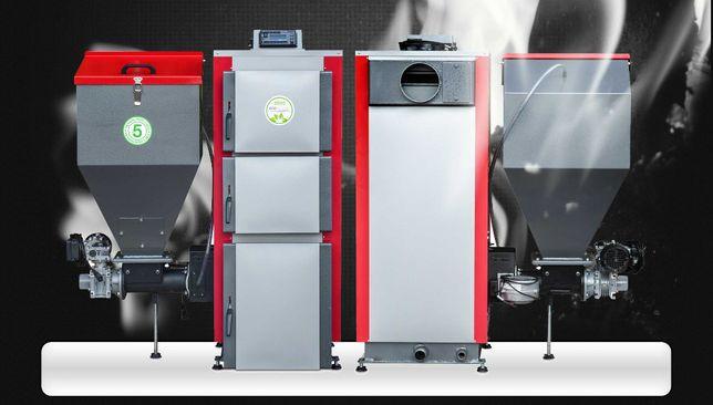 KOCIOŁ PIEC 48 kW z podajnikiem na ekogroszek Czyste Powietrze 5 KLASA