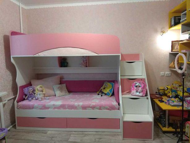 Кровать двухъярусная детская, подростковая