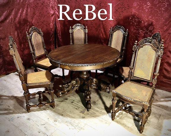 Zabytkowe Krzesła Eklektyczne solidne i masywne!