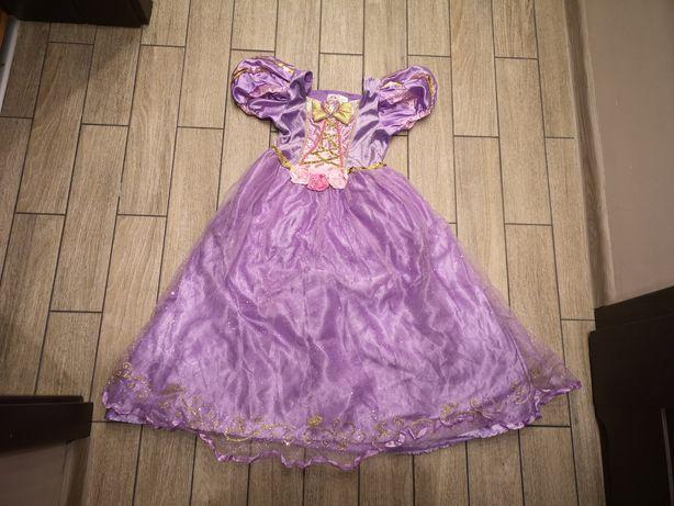 Sukienka Roszpunki Roszpunka Disney roz.5-6lat(110-116cm)