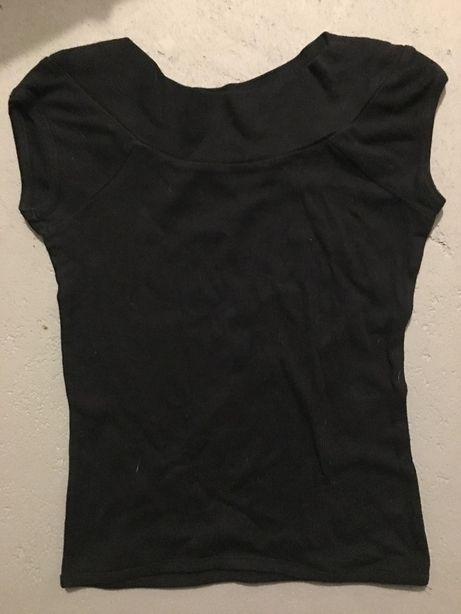Czarna bluzka z krótkim rękawem, rozm. XS