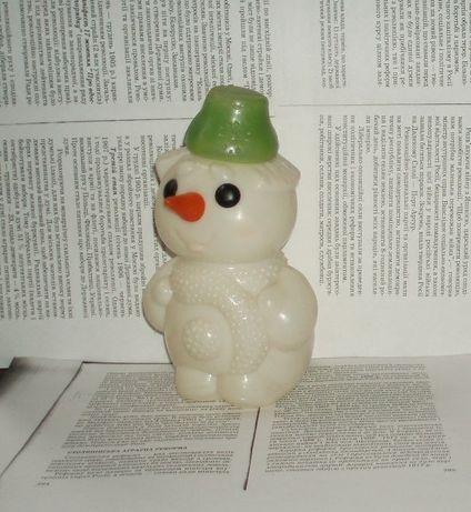 Винтаж игрушка снеговик СССР пластмасса цена