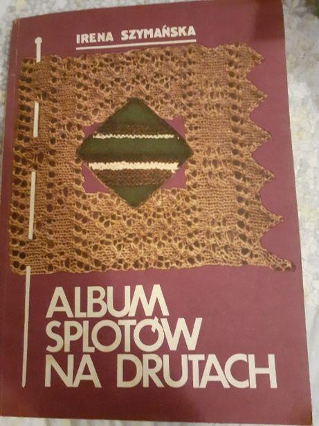 """książka """"Album splotów na drutach"""""""