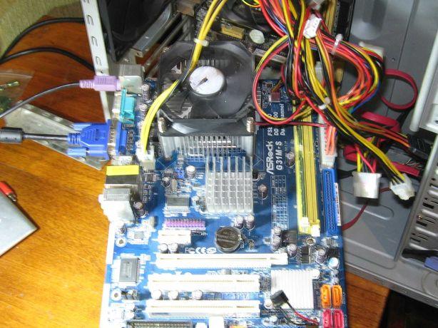Комплект материнка+процессор