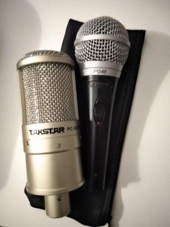 Микрофоны Shure PG-48(шнуровой), TAKSTAR PC-K-200(конденсаторный)