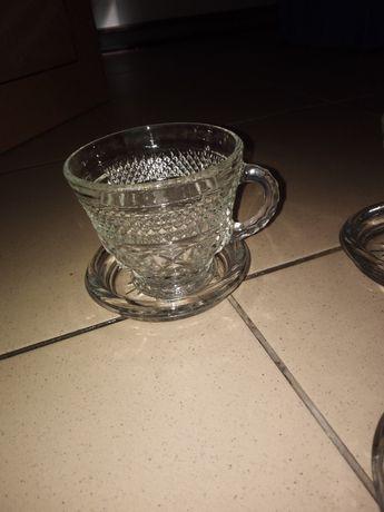 Kryształowe filiżanki zestaw do kawy