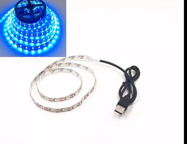 Taśma LED 1M błękitny 5V USB TV Podświetlenie i inne możliwości