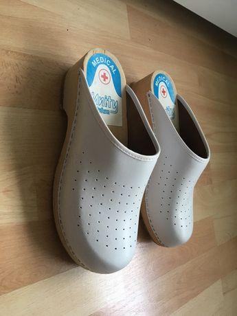 Białe obuwie medyczne 41