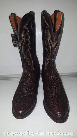 Сапоги ковбойские из кожи крокодила (Америка)
