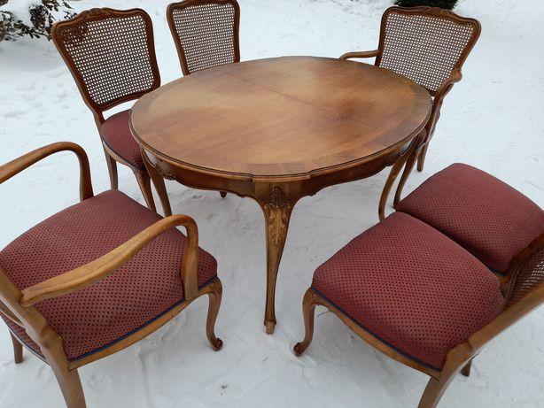 WARRINGS Duży Stół z krzesłami oryginalny Stary Ludwik jadalnia 1952r
