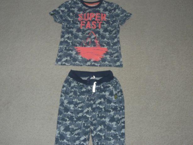 dres r.122 Coccodrillo MORO jak Nowy spodnie,bluzeczka komplet odblask