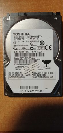 "Dysk HDD 500GB 2,5"" Toshiba 7200rpm"