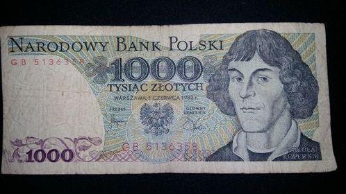 Banknot 1000zł z 1982r