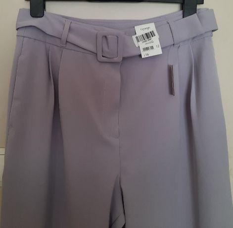 George Nowe spodnie wyjściowe r. 12 (40) kolor liliowy