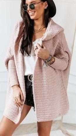sweter kardigan Cocomore brudny róż
