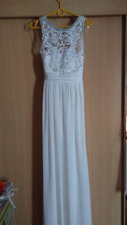 Piękna Suknia ślubna rozmiar M w kolorze ecru