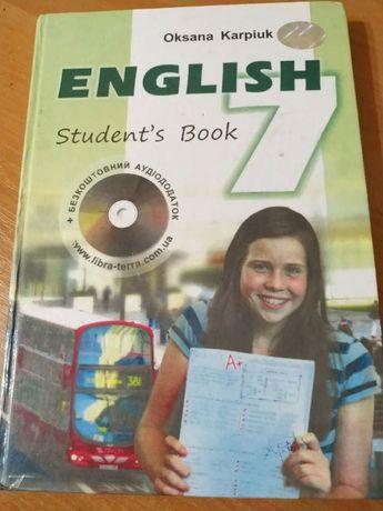підручник, учебник, англійська мова, английский язык, 7 класс, 7 клас