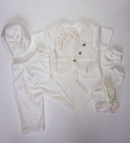 Крестильный набор для мальчика. Костюм на выписку. Крестильный костюм.