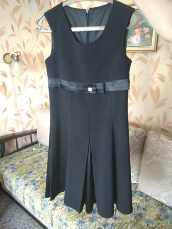 Чорна шкільна форма трійка для 8-10 класів (3в1) сарафан піджак брюки