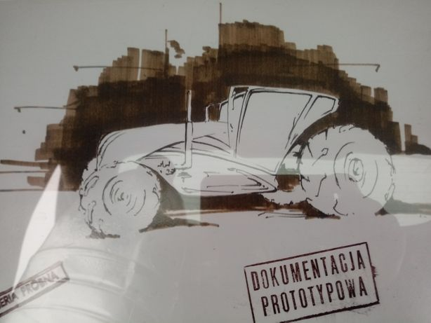 Prospekt obraz futurystyczny URSUS oryginał PRL II