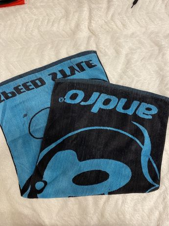 Czarno- niebieski ręcznik Andro