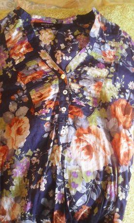 Рубашка на девочку Reserved с розами 42/S размер-size