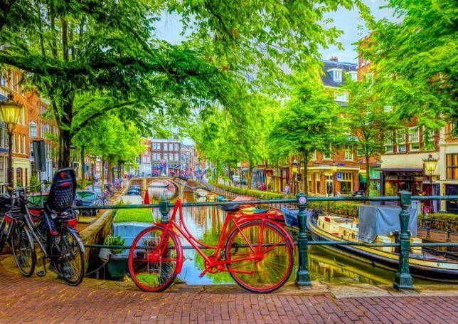 Puzzle Bluebird 1000 Peças 70211 Red Bike in Amsterdan - NOVO
