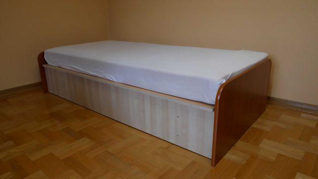 Solidne łóżko 90x200 z pojemnikiem + materac z pokrowcem GRATIS