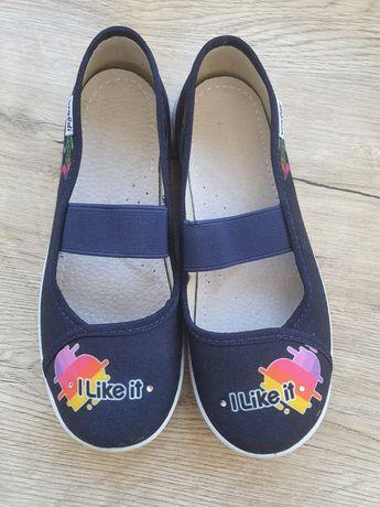 Мокасины туфли текстильные состояние новых