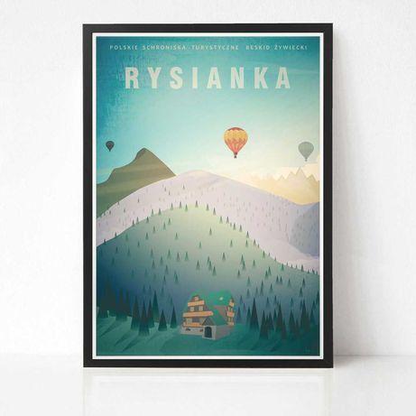 Rysianka Plakat Polskie Schroniska Turystyczne Beskidy