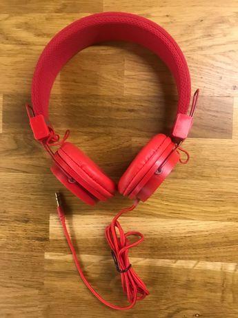 Czerwone słuchawki przewodowe - nowe!
