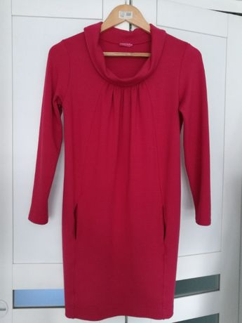 Happymum sukienka tunika ciążowa XS malinowa