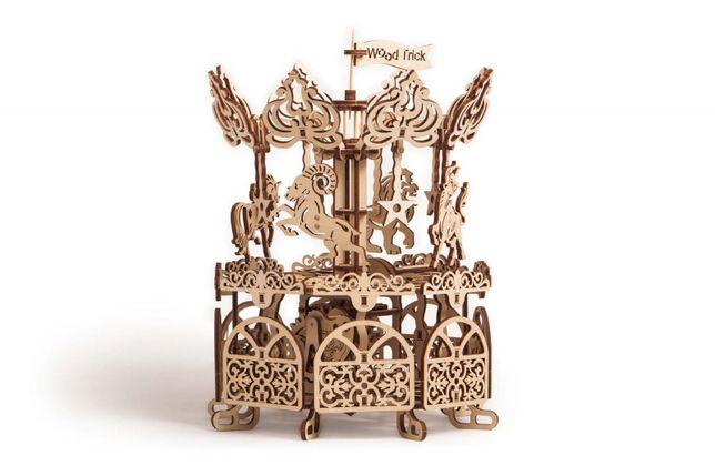 """3D пазл """"Карусель"""" деревянный конструктор"""