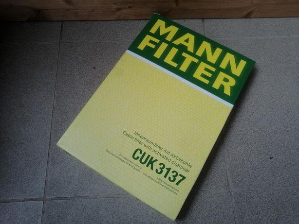 MANN-FILTER Filtr kabinowy CUK 3137 z węglem aktywnym idealny stan